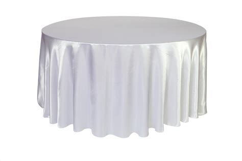 round table with white tablecloth white satin round table cloth 3m x 3m moments of elegance