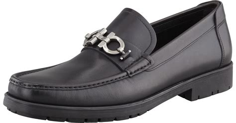 ferragamo master loafer sale ferragamo master gancini loafer in black for lyst