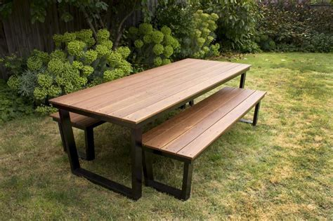 patio table with bench seating temperature sinclair table outdoor temperature design