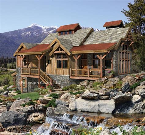 pacific northwest home plans creekside timber frame