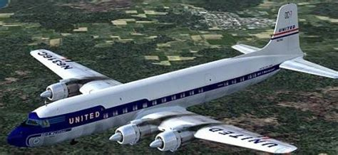 United Airlines American Airlines by Douglas Dc 7 S