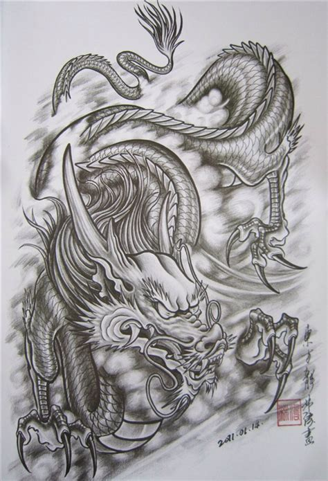 tattoo oriental art dragon pinteres