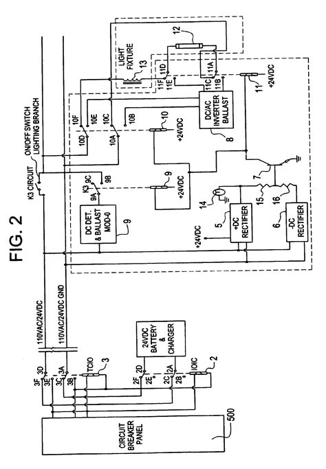 emergency light fixture wiring diagram circuit and
