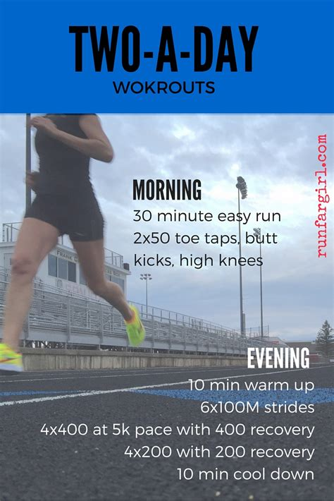 two a day workouts for runners