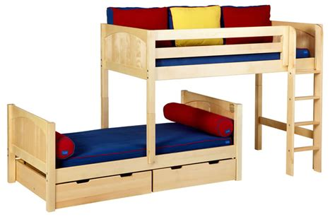 Half Bunk Bed Mish Bunk Bed By Maxtrix Half View 800