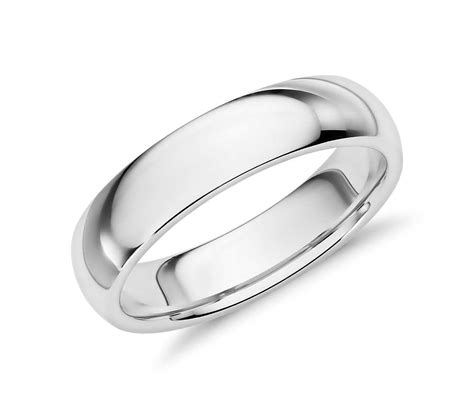 Comfort Fit by Comfort Fit Wedding Ring In Palladium 5mm Blue Nile