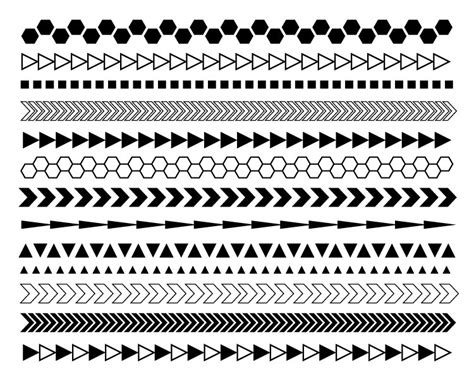 tribal pattern border frame clipart tribal pencil and in color frame clipart