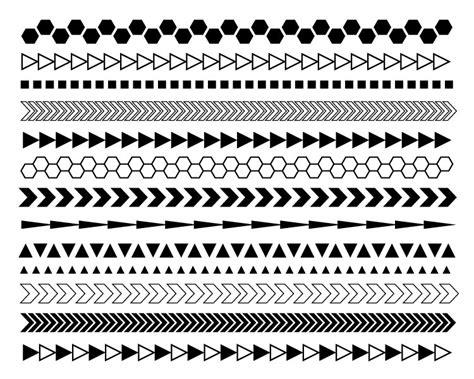 geometric pattern borders geometric digital borders black and white borders modern