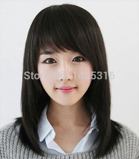 hairnets and bangs 1000 ideas about straight long bob on pinterest side
