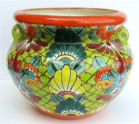 mexican talavera pottery quot bean pot quot planter flower pot
