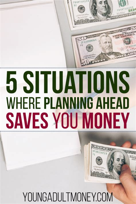 5 Ex Situations You Could Be In by 5 Specific Situations Where Planning Ahead Saves You Money