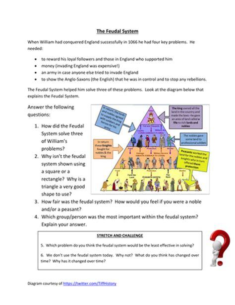Feudalism Worksheet by Feudal System Worksheet By Historyhelen Teaching