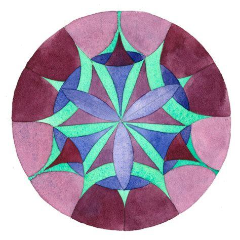 triad color scheme color scheme mandala 71 ink watercolor modified triad