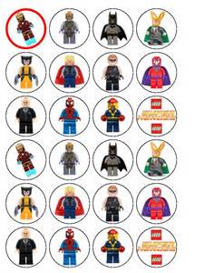 24 x lego super heroes wafer paper cup cake tops superhero