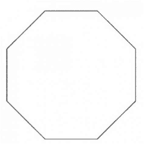 octagon template printable free coloring pages of octagon shape