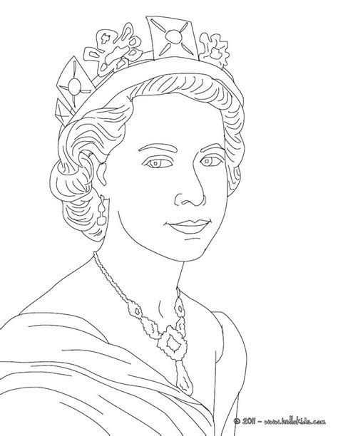 printable coloring pages kings and queens queen elizabeth ii coloring pages hellokids com