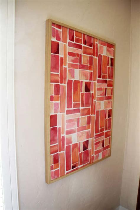 diy living room wall art 30 brilliant red diy room decor ideas