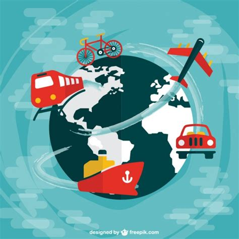 Infografía de viajar por el mundo   Descargar Vectores gratis