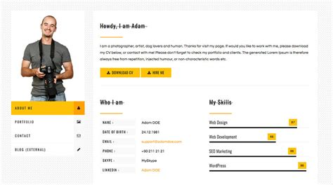 Bootstrap 3 Resume Template by Cvpress Free Resume Cv Bootstrap Template Show Wp