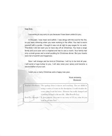 Sincere Apology Letter To Apology Letter Exles