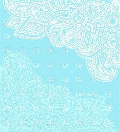 ethnic indian ornament mendi style background vector