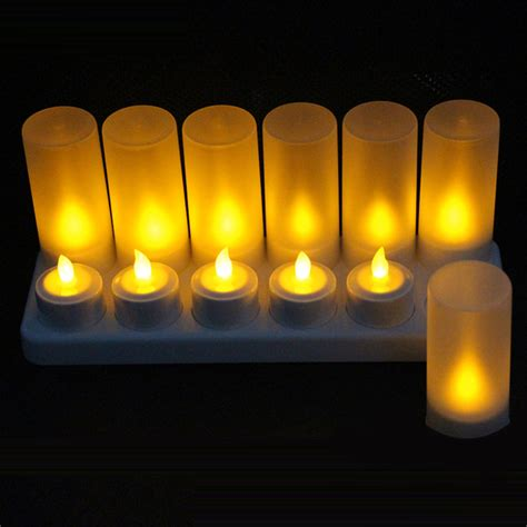 best yellow led rechargeable flameless candles uk tea