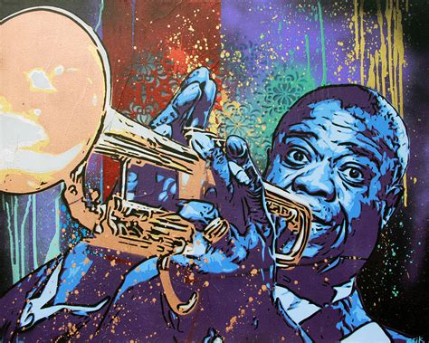 Abstract Wall Murals louis armstrong painting by bobby zeik