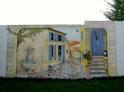 Peindre Un Mur Exterieur 4987 by Peinture Trompe L Oeil Mur Exterieur