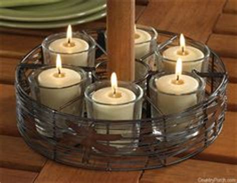 patio umbrella candle holder 1000 images about patio lighting on tealight