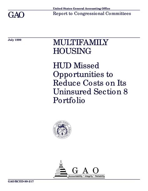hud section 8 housing list multifamily housing hud missed opportunities to reduce