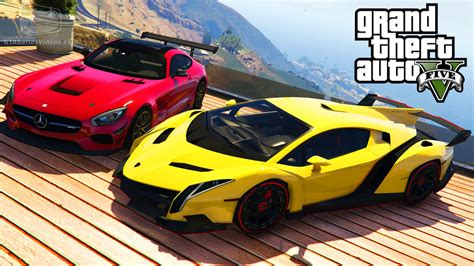 mod gta 5 cars gta 5 car mods 5 lamborghini veneno bmw i8 mercedes