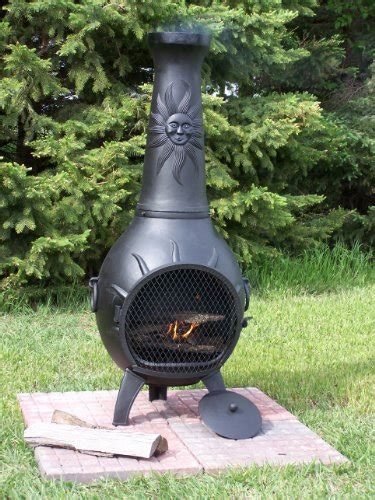 Chiminea Prices The Blue Rooster Sun Chiminea In Charcoal Best Prices