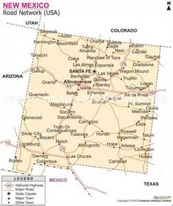 road map of new mexico and new mexico road map maps