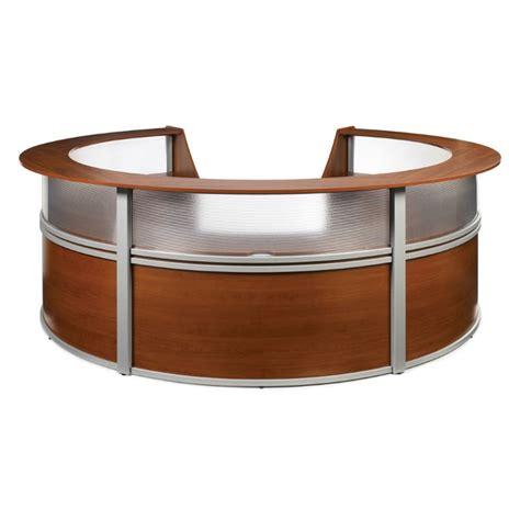Ofm Reception Desk Ofm Marque Plexi 5 Unit Reception Desk In Cherry 55316 Chy