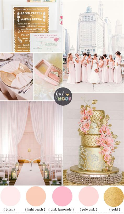 blush pink l shade glamorous ballroom wedding shades of blush pink and gold