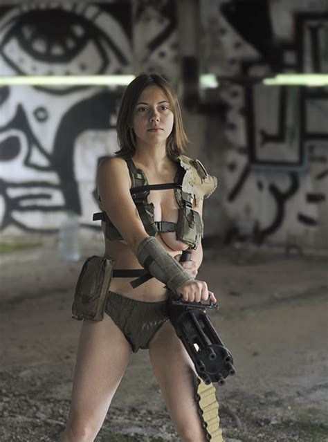 Polina With Minigun By Ohlopkov On Deviantart