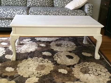 Large White Coffee Table With Claw And Ball Feet Kanata And Claw Coffee Table