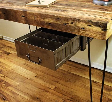 Timber Office Desks Reclaimed Wood Desk Retro Drawer Office Reno 2013 Wood Desk Desks And