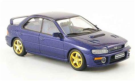 Diecast Subaru subaru impreza wrx blue trofeu diecast model car 1 43