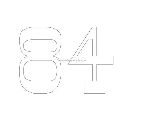 printable vintage number stencils free vintage 84 number stencil freenumberstencils com