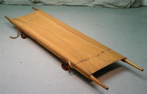 army pattern stretcher vintage army stretcher litter canvas wood wwi 40562817