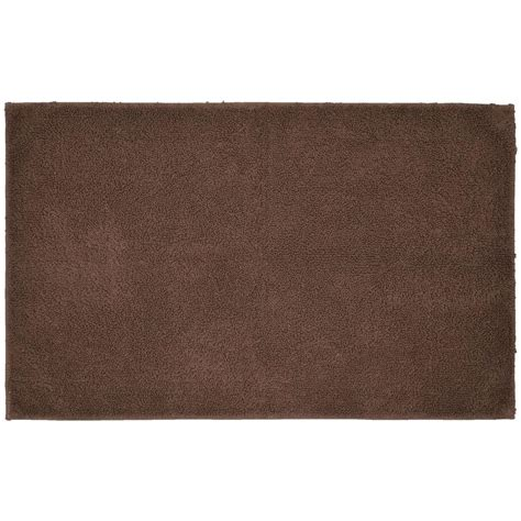 Bathroom Accent Rugs Garland Rug Cotton Chocolate 24 In X 40 In Washable Bathroom Accent Rug Que 2440 14