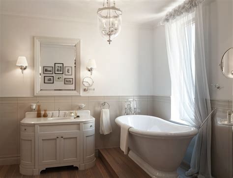 White Bath White Traditional Bathroom Roll Top Bath Interior Design