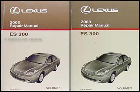book repair manual 1996 lexus es auto manual 2003 lexus es 300 wiring diagram manual original