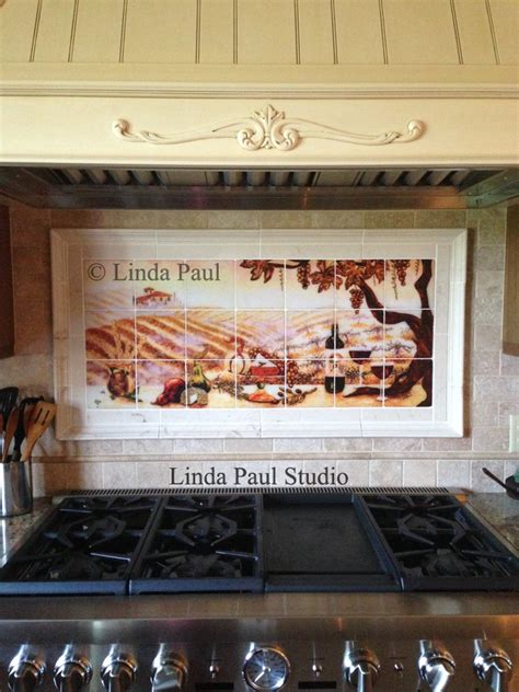 kitchen backsplash tile murals vineyard tile murals tuscan wine tiles kitchen
