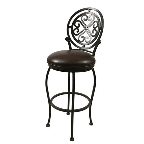 ford bar stool with backrest pastel furniture island falls 30 quot swivel bar stool with