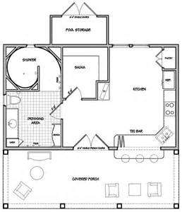 Pool Cabana Floor Plans by Cabana House Plans