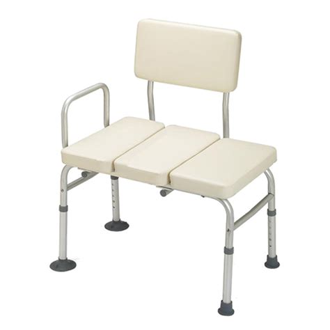 transfer bench shower chair guardian padded transfer bench shower chair