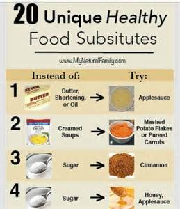 20 unique healthy food substitutes trusper