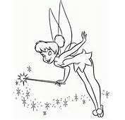 Coloring Pages Of Disney Characters Tinkerbell  Free